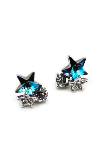 Ocean Fashion Lovely cute star blue crystal earrings Image 3