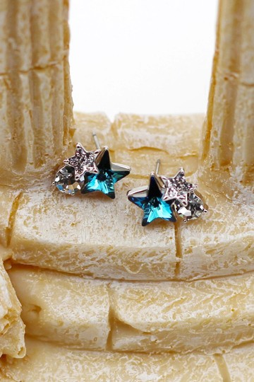 Ocean Fashion Lovely cute star blue crystal earrings Image 4