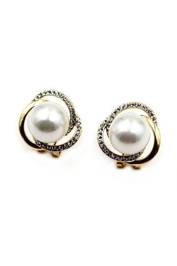 Ocean Fashion Noble round pearl earrings Image 1