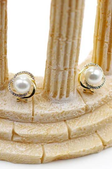 Ocean Fashion Noble round pearl earrings Image 2