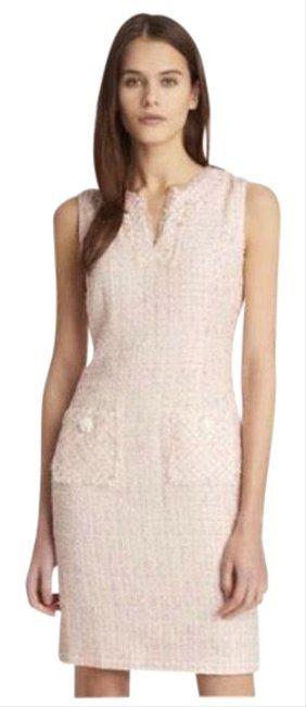Preload https://img-static.tradesy.com/item/25973502/karl-lagerfeld-pink-white-tweed-mid-length-workoffice-dress-size-4-s-0-2-650-650.jpg