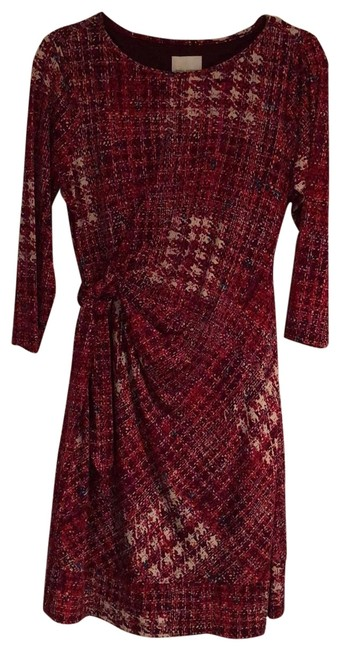 Preload https://img-static.tradesy.com/item/25973530/donna-morgan-red-burgundy-white-print-scoop-neck-three-quarter-sleeve-faux-wrap-short-workoffice-dre-0-2-650-650.jpg