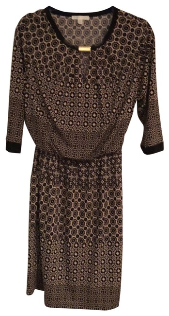 Preload https://img-static.tradesy.com/item/25973631/london-times-black-and-taupe-blouson-style-elastic-waist-short-workoffice-dress-size-10-m-0-2-650-650.jpg