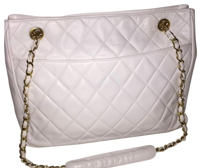 Item - 2.55 Reissue Vintage Quilted White Lambskin Leather Tote