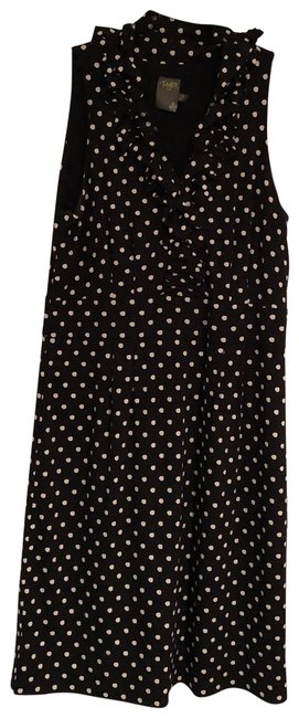 Preload https://img-static.tradesy.com/item/25973647/taylor-black-and-white-polka-dots-fun-short-workoffice-dress-size-10-m-0-2-650-650.jpg