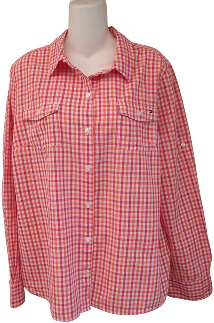 Preload https://img-static.tradesy.com/item/25973677/tommy-hilfiger-checkered-cotton-long-sleeve-button-front-shirt-button-down-top-size-16-xl-plus-0x-0-2-650-650.jpg