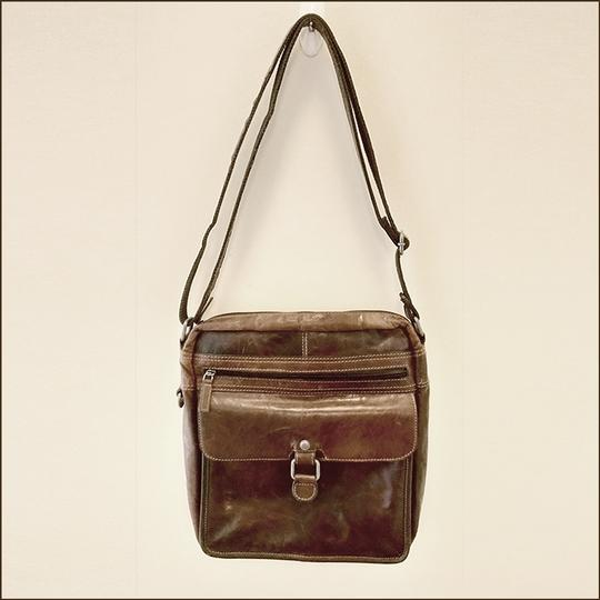 Jack Georges Leather Rustic Western Cross Body Bag Image 1