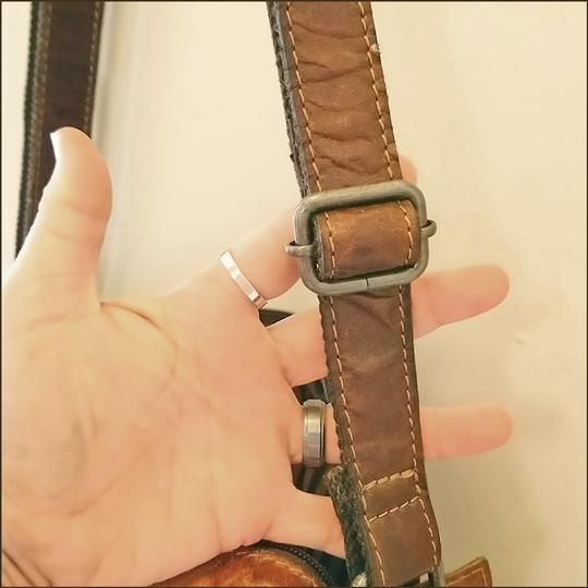 Jack Georges Leather Rustic Western Cross Body Bag Image 10