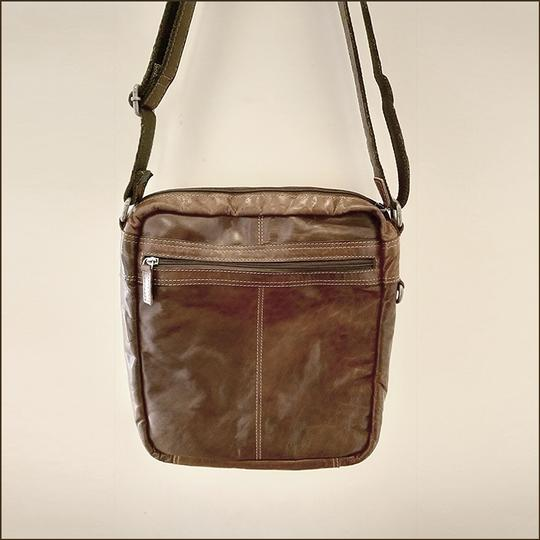 Jack Georges Leather Rustic Western Cross Body Bag Image 2