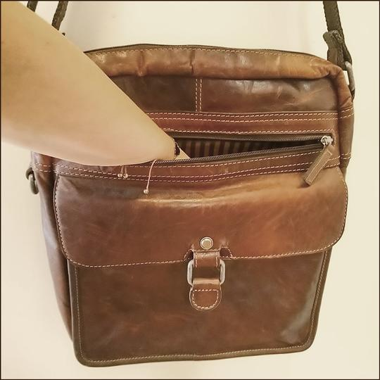 Jack Georges Leather Rustic Western Cross Body Bag Image 3
