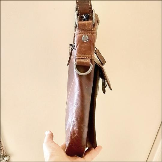 Jack Georges Leather Rustic Western Cross Body Bag Image 6