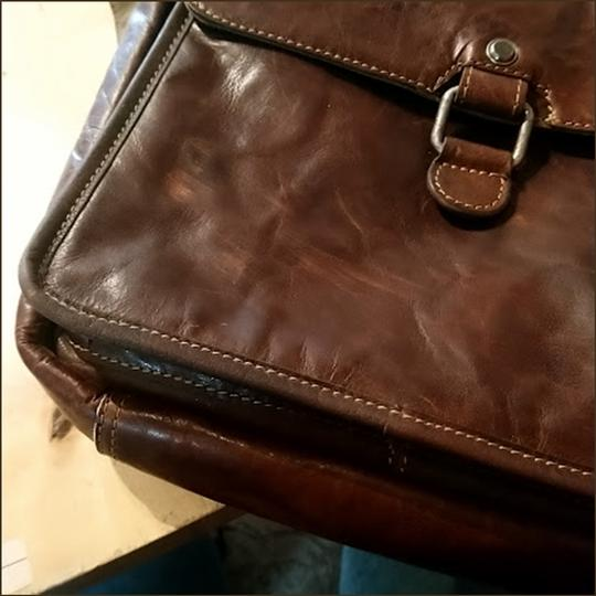 Jack Georges Leather Rustic Western Cross Body Bag Image 8