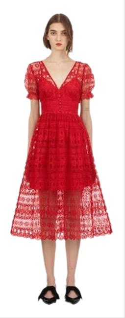 Preload https://img-static.tradesy.com/item/25973692/self-portrait-red-lace-mid-length-formal-dress-size-10-m-0-2-650-650.jpg