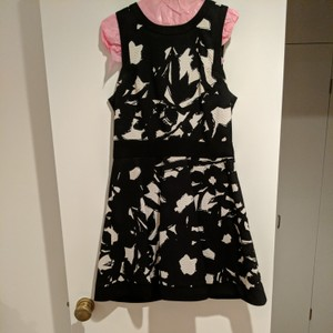 Banana Republic short dress Black and White floral on Tradesy