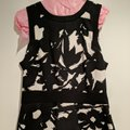Banana Republic short dress Black and White floral on Tradesy Image 1