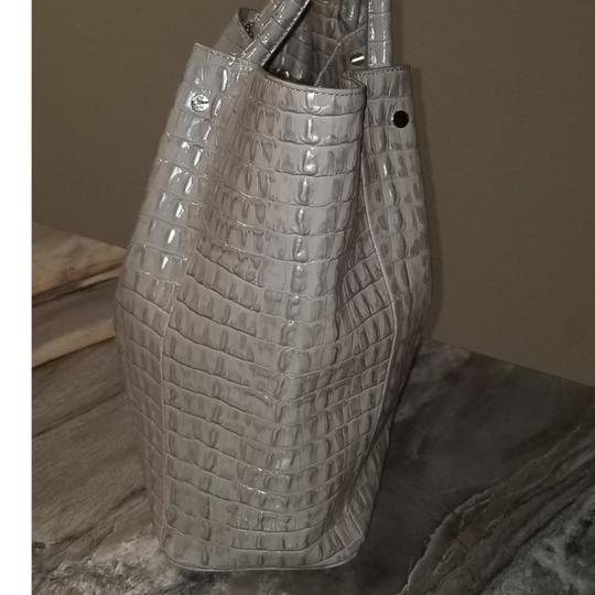 Brahmin Mallory La Scala Leather Tote in Warm Gray Image 3