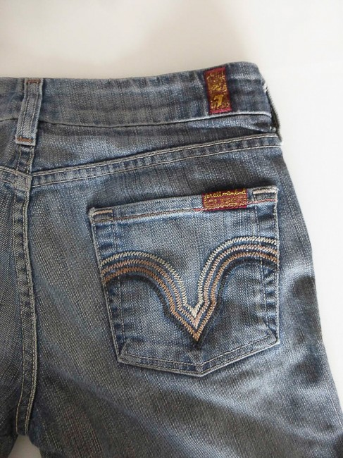 7 For All Mankind Low Rise Stretch Denim Mid Rinse 30