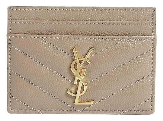 Preload https://img-static.tradesy.com/item/25973780/saint-laurent-taupe-monogram-quilted-leather-credit-card-case-wallet-0-2-540-540.jpg