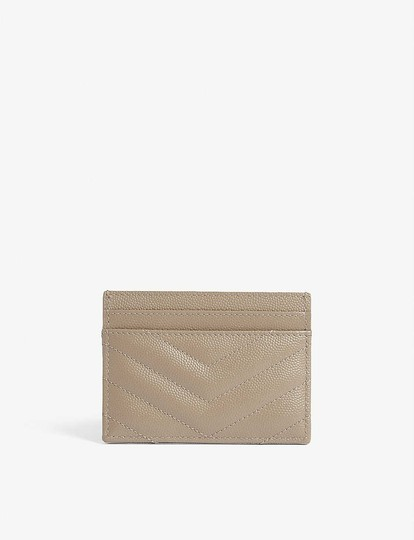 Saint Laurent Monogram Quilted Leather Credit Card Case Image 3