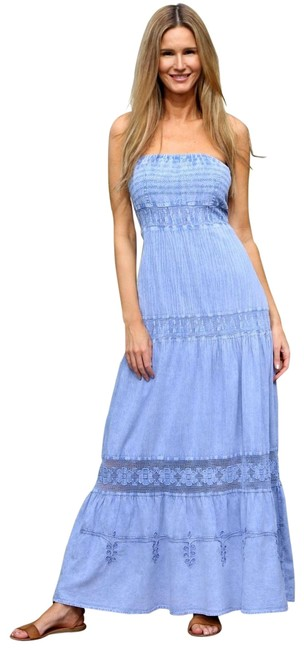Preload https://img-static.tradesy.com/item/25973802/lirome-denim-blue-tie-dye-organic-cotton-ave-blanca-strapless-lace-long-casual-maxi-dress-size-12-l-0-3-650-650.jpg