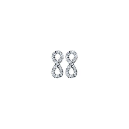 Preload https://img-static.tradesy.com/item/25973830/white-april-birthstone-diamonds-infinity-in-14k-gold-025-ct-earrings-0-0-540-540.jpg
