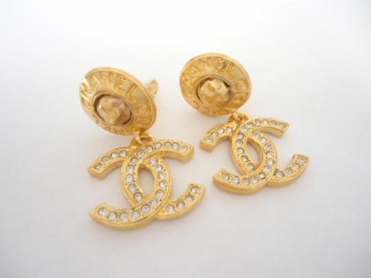 Chanel chanel Cc Logos Double Sided Crystal Dangle Drop Clips Earrings Image 2