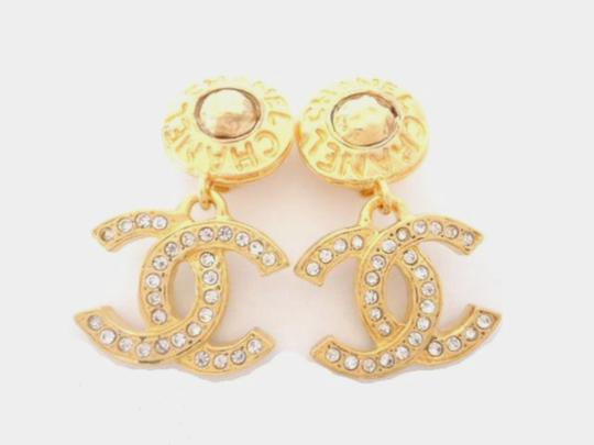 Chanel chanel Cc Logos Double Sided Crystal Dangle Drop Clips Earrings Image 3