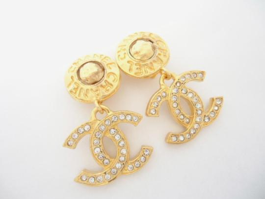 Chanel chanel Cc Logos Double Sided Crystal Dangle Drop Clips Earrings Image 4
