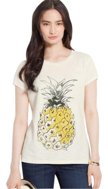 Preload https://img-static.tradesy.com/item/25973862/ann-taylor-pineapple-tee-shirt-size-4-s-0-2-650-650.jpg
