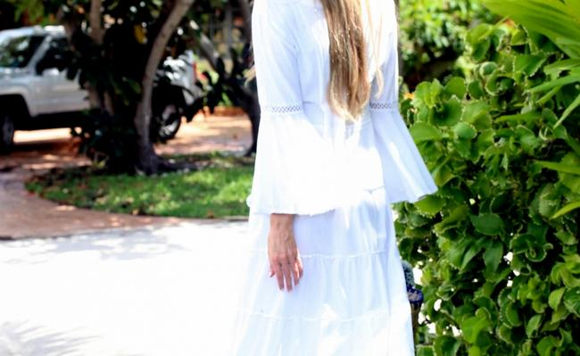 Denim Blue Maxi Dress by Lirome Boho Vintage Retro Ibiza Maxi Image 9