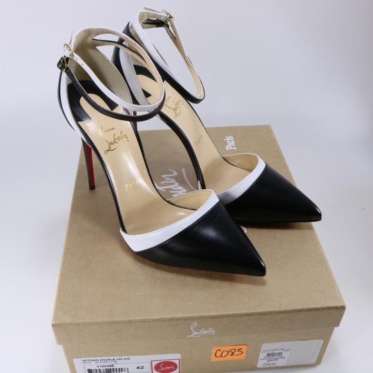 Christian Louboutin White Color Ankle Strap black Pumps Image 1