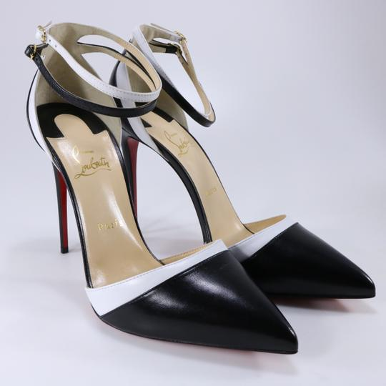 Christian Louboutin White Color Ankle Strap black Pumps Image 2