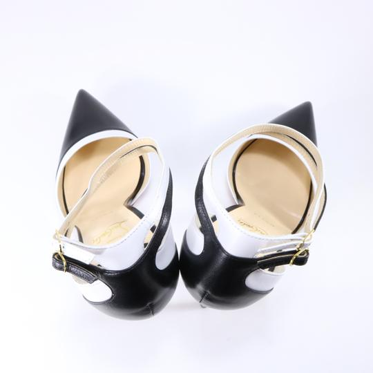 Christian Louboutin White Color Ankle Strap black Pumps Image 4