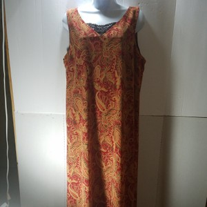 Red/Brown Maxi Dress by unknown