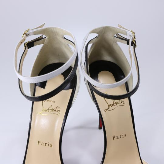 Christian Louboutin White Color Ankle Strap black Pumps Image 11