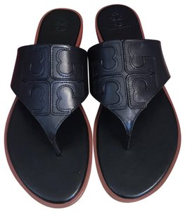 Tory Burch Miller Fleming Black Sandals