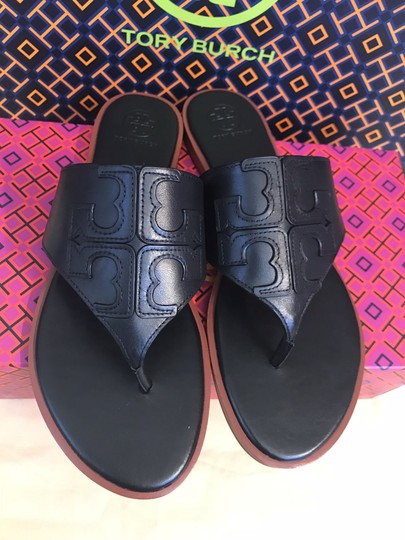 Tory Burch Miller Fleming Black Sandals Image 1