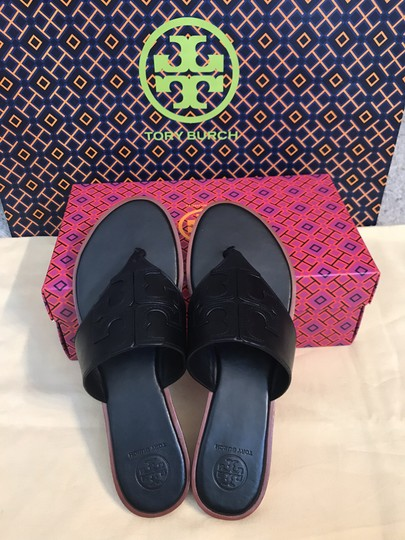 Tory Burch Miller Fleming Black Sandals Image 2