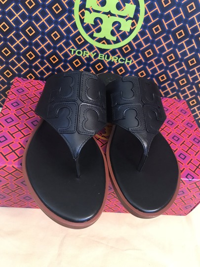 Tory Burch Miller Fleming Black Sandals Image 3