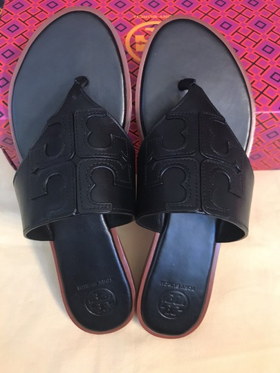 Tory Burch Miller Fleming Black Sandals Image 4