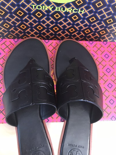 Tory Burch Miller Fleming Black Sandals Image 5