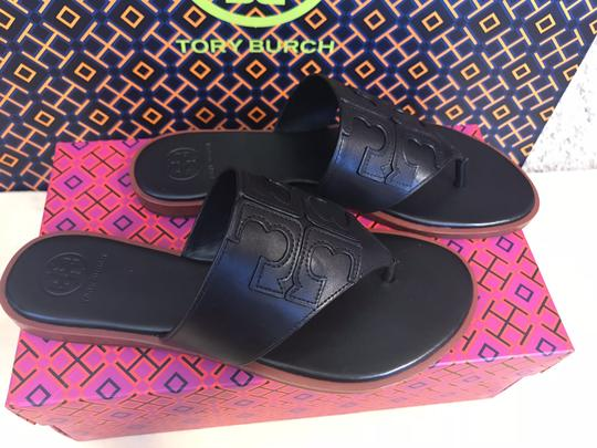 Tory Burch Miller Fleming Black Sandals Image 6