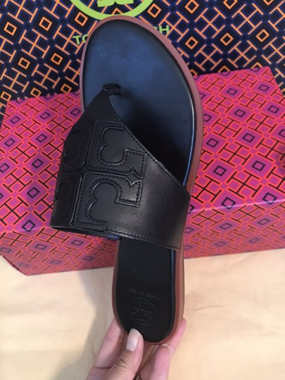 Tory Burch Miller Fleming Black Sandals Image 9