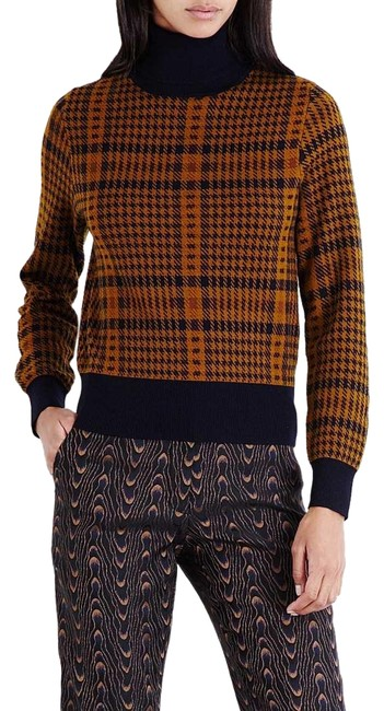 Preload https://img-static.tradesy.com/item/25973941/dries-van-noten-mustard-and-navy-houndstooth-turtleneck-sweater-0-2-650-650.jpg