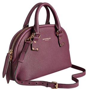 Burberry Satchel in Dark Purple