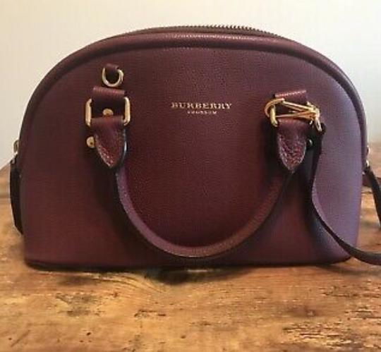Burberry Satchel in Dark Purple Image 1