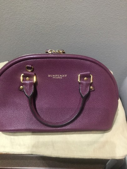 Burberry Satchel in Dark Purple Image 2