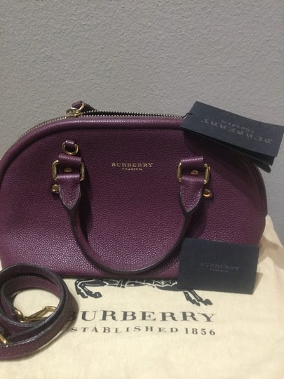 Burberry Satchel in Dark Purple Image 3