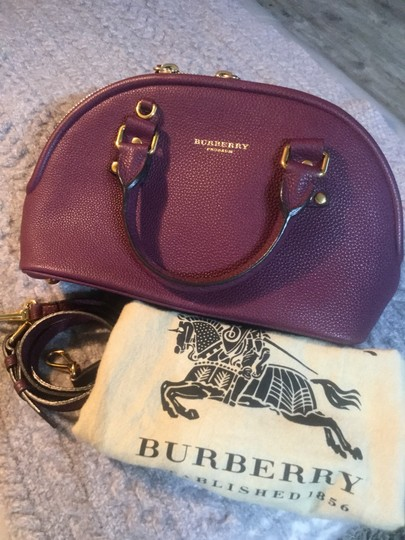 Burberry Satchel in Dark Purple Image 5