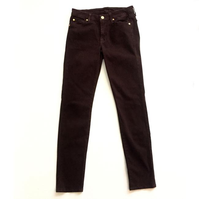 7 For All Mankind The Slim Cigarette Suede Women Size 27 Suede Size 27 Skinny Jeans Image 2